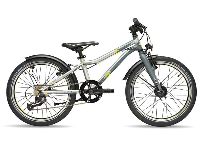 s'cool XXlite elite 20 9-S Børnecykel grå/sølv
